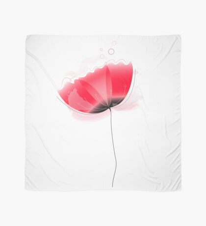 Cute beautiful abstract Poppy flower isolated on white Scarf