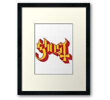 Ghost (Ghost BC) Gold/Red Logo Framed Print