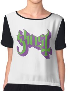 Ghost (Ghost BC) Green/Purple HD Logo Chiffon Top