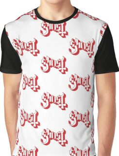 Ghost (Ghost BC) Red HD Logo Graphic T-Shirt