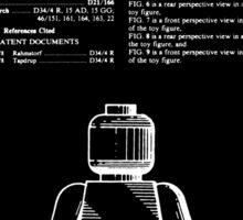 Lego Man Patent - Black (v1) Sticker