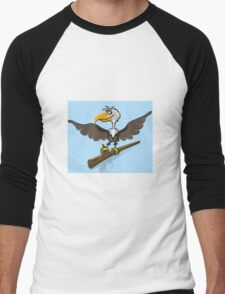 Cartoon bird Men's Baseball ¾ T-Shirt