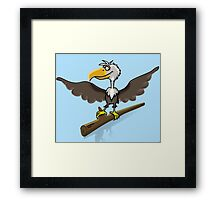 Cartoon bird Framed Print
