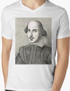 William Shakespeare The Bard of Avon Mens V-Neck T-Shirt