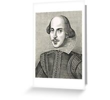 William Shakespeare The Bard of Avon Greeting Card
