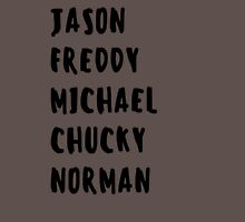 Favorite Horror Character Names Unisex T-Shirt