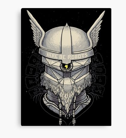 Viking Robot Canvas Print