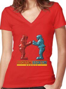 Rock'em Sock'em - 3D Variant Women's Fitted V-Neck T-Shirt