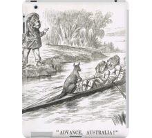 Advance Australia Punch Cartoon by John Tenniel 1891 iPad Case/Skin