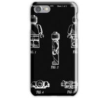 Lego Man Patent - Black (v2) iPhone Case/Skin