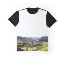 Green Rolling Hills Graphic T-Shirt