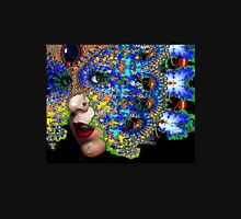 EPHEMERAL / WOMAN PORTRAIT WITH FRACTAL MASK Unisex T-Shirt