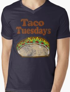 Vintage Taco Tuesday Mens V-Neck T-Shirt