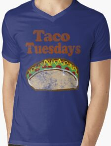 Vintage Taco Tuesday Mens V-Neck T-Shirt