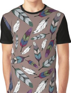 Colorful tribal feathers print. Vector illustration Graphic T-Shirt