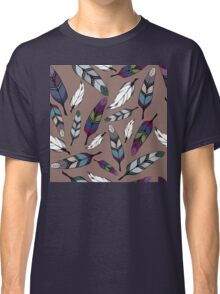 Colorful tribal feathers print. Vector illustration Classic T-Shirt