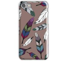 Colorful tribal feathers print. Vector illustration iPhone Case/Skin