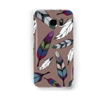 Colorful tribal feathers print. Vector illustration Samsung Galaxy Case/Skin