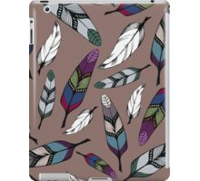 Colorful tribal feathers print. Vector illustration iPad Case/Skin