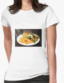 Chicken burger Womens Fitted T-Shirt