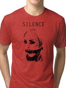 Silence, Mouth Gag. BDSM T-shirt Tri-blend T-Shirt