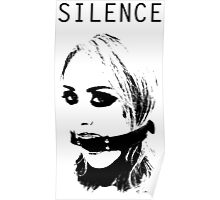 Silence, Mouth Gag. BDSM T-shirt Poster