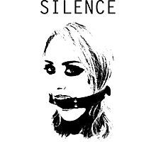 Silence, Mouth Gag. BDSM T-shirt Photographic Print