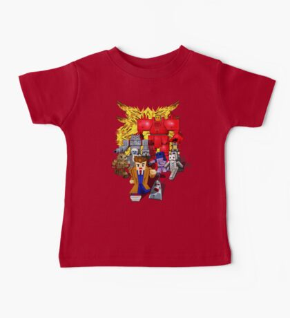 8bit world Time traveller vs Retro enemies Baby Tee