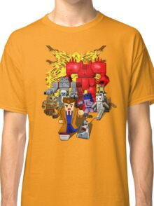 8bit world Time traveller vs Retro enemies Classic T-Shirt