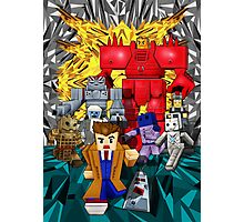 8bit world Time traveller vs Retro enemies Photographic Print