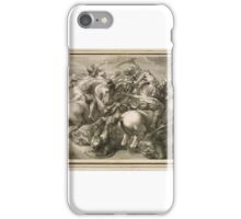 The Battle Of Four Horsemen. Battle Of Anghiari by Gerard Edelinck iPhone Case/Skin