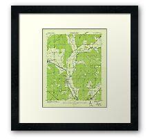 USGS TOPO Map Alabama AL Paint Rock 304771 1936 24000 Framed Print