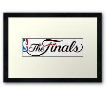 NBA finals Framed Print