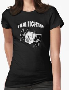 THAI FIGHTER - FOOD ATTACK Womens Fitted T-Shirt