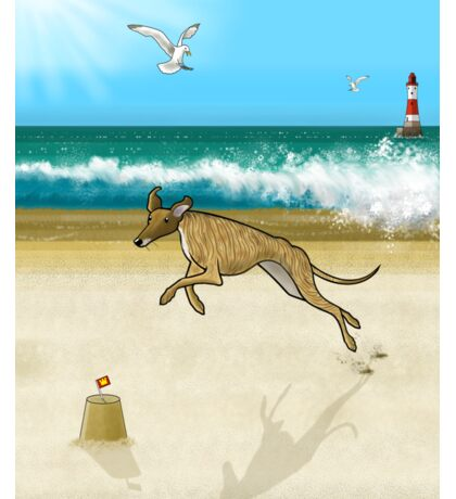 Brindle on the Beach Sticker