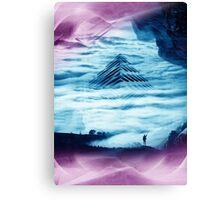 Pyramid Teal Canvas Print