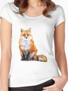 Geometric Fox Women's Fitted Scoop T-Shirt