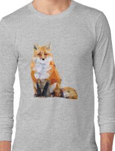 Geometric Fox Long Sleeve T-Shirt