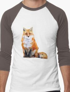 Geometric Fox Men's Baseball ¾ T-Shirt