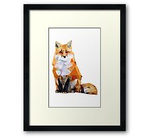 Geometric Fox Framed Print