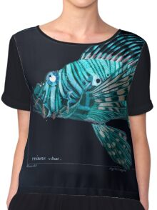 Natural History Fish Histoire naturelle des poissons Georges V1 V2 Cuvier 1849 170 Inverted Chiffon Top