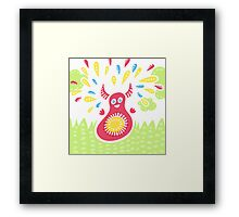 Jumping Happy Creature Framed Print