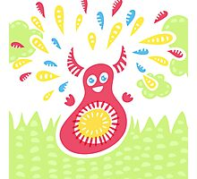 Jumping Happy Creature Photographic Print