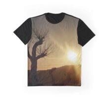 Sunset on a leafless tree Graphic T-Shirt