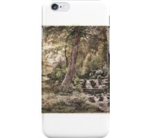 William Trost Richards (American, ). Landscape with Stream and Road, Chester County, ca.  iPhone Case/Skin