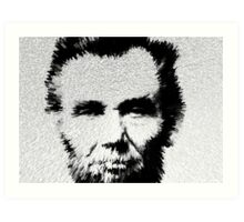 Modern Abe - Abraham Lincoln Art by Sharon Cummings Art Print