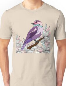 Purple bird vector illustration print Unisex T-Shirt