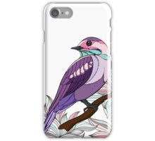 Purple bird vector illustration print iPhone Case/Skin