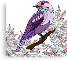 Purple bird vector illustration print Canvas Print