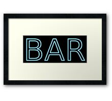 Bar Framed Print
